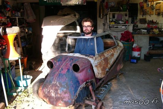 messerschmitt KR 200 en reconstruction totale